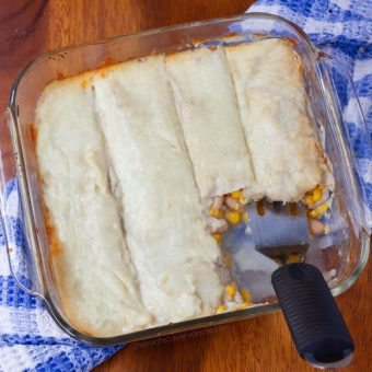 White Enchiladas – With Lightened Up Sour Cream Sauce