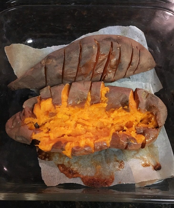 How long do you cook sweet potatoes in the oven