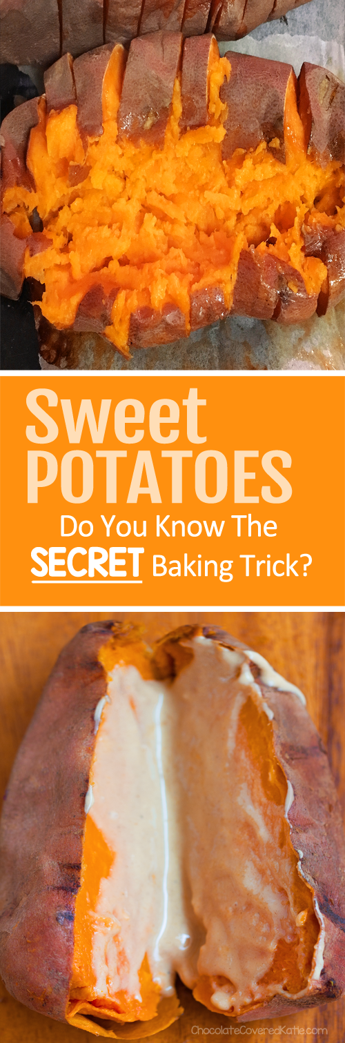 Once you try baking your sweet potatoes using these three secret tricks, you will never go back to any other sweet potato recipes.