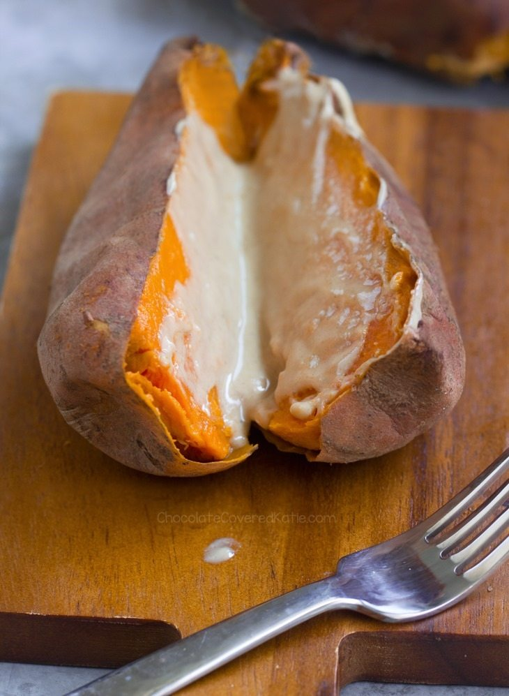 sweet potatoes tahini
