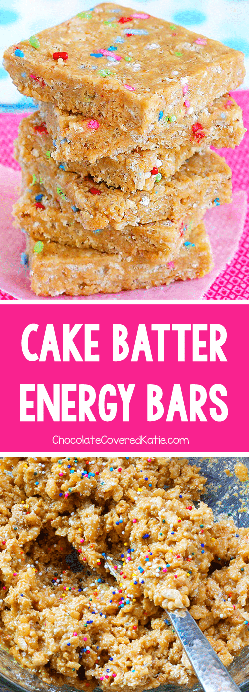 How To Make Healthy Cake Batter Energy Bars Or Protein Bars