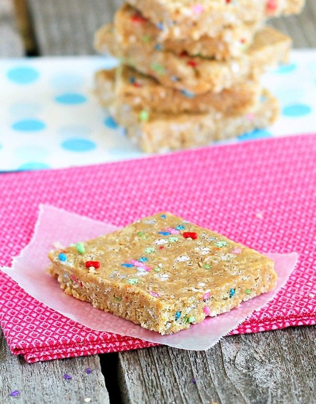 cake batter granola bars