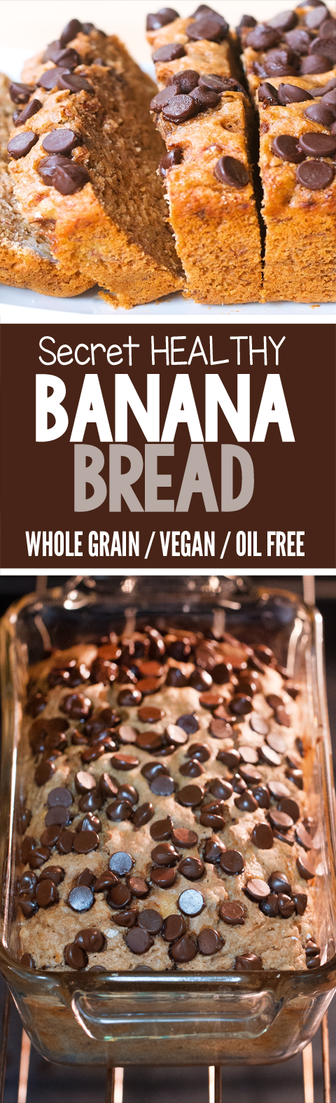 The best healthy banana bread recipe I've ever made, with no refined sugar. You will never believe it is healthy and oil free!