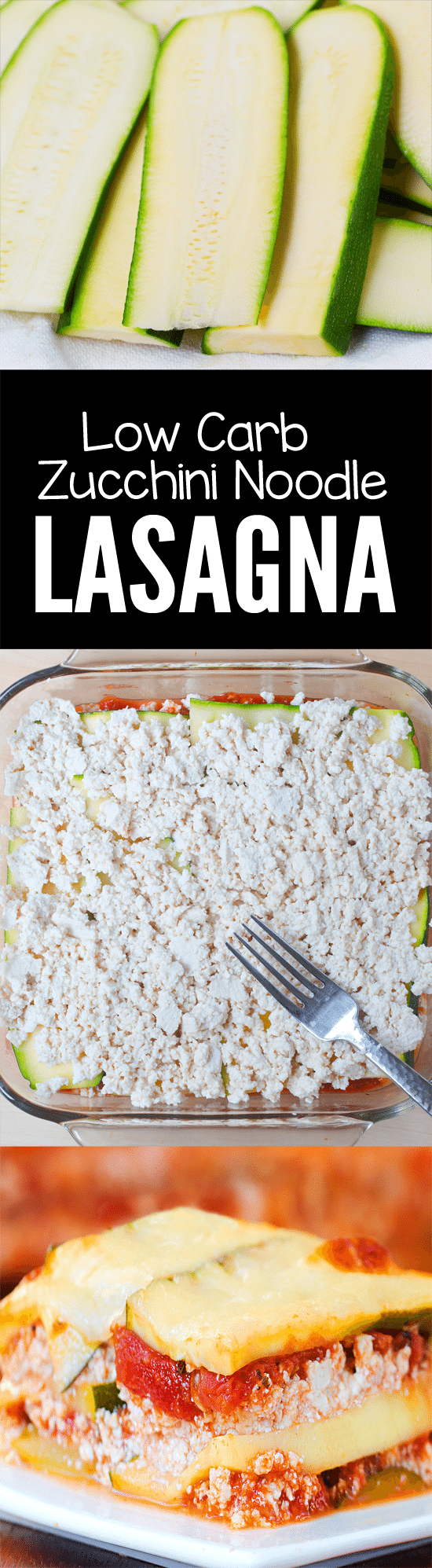 Zucchini stands in for the noodles in this easy lightened-up zucchini lasagna recipe from @choccoveredkt