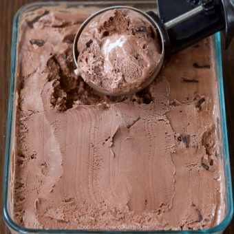 Easy Chocolate Brownie Nice Cream