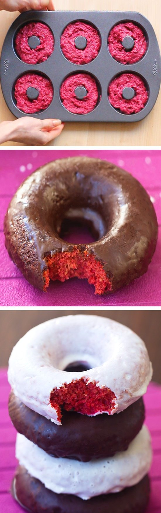 A good-for-you alternative to Dunkin Donuts, they are baked instead of fried and have no food coloring or refined sugars!