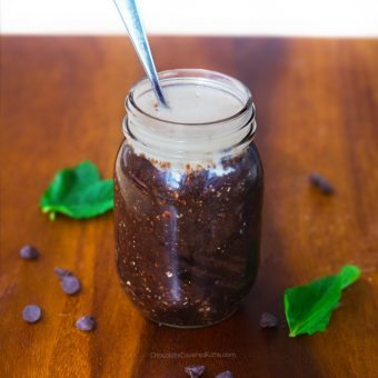 Thin Mint Cookie Overnight Oats