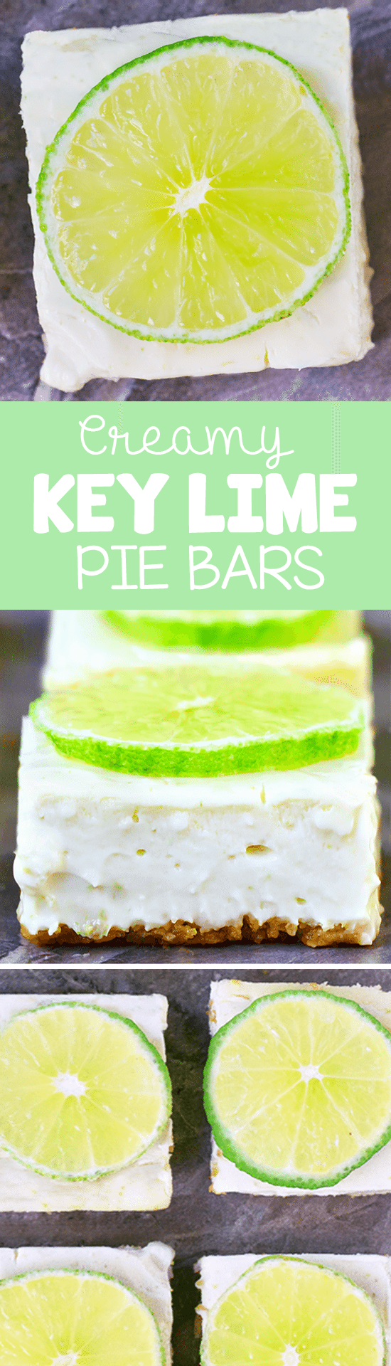 The best part about these creamy key lime pie bars is how deliciously light & creamy they are!