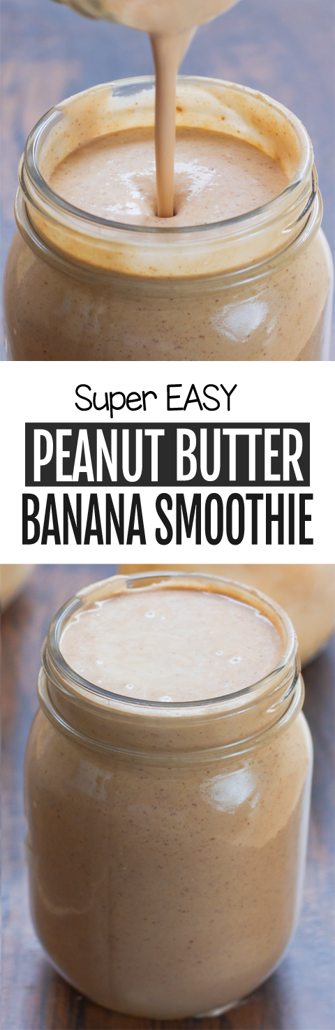 Peanut Butter Banana Smoothie Recipe, With Just 4 Ingredients