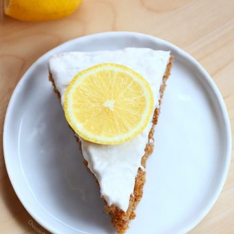 Lemon Cake + Whipped Cream Frosting