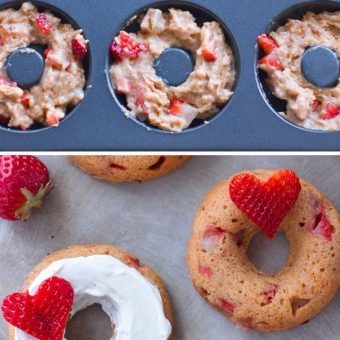 Baked Strawberry Donuts – Refined Sugar Free!