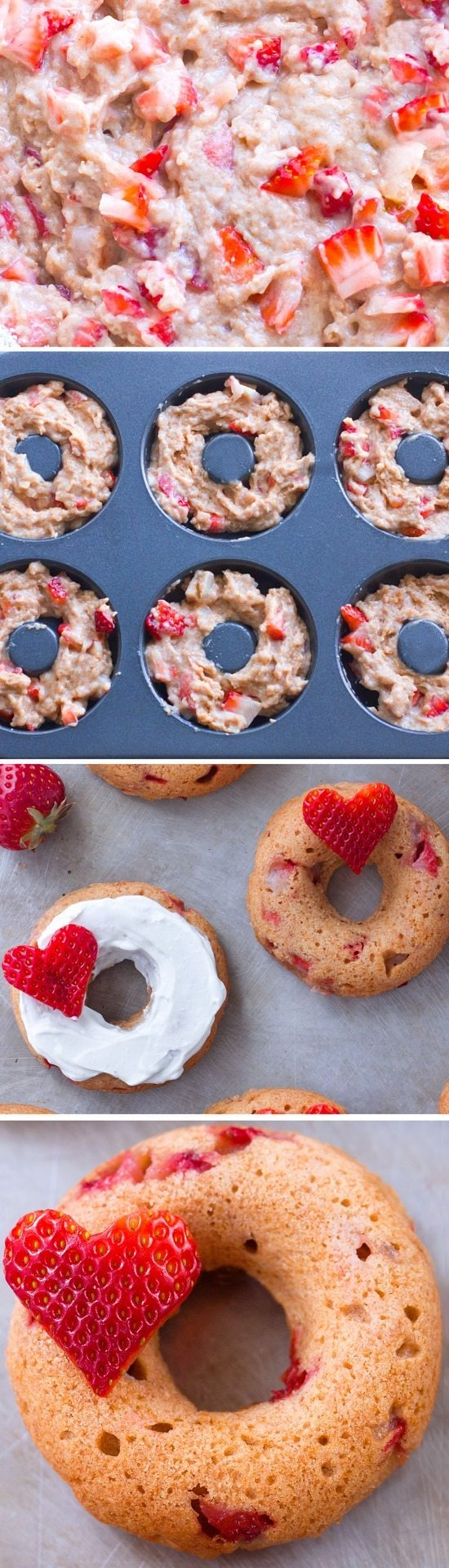 Sweet, delicious, healthy baked strawberry donuts