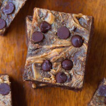 Chocolate Peanut Butter Swirl Brownies