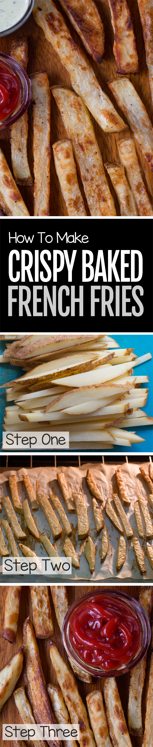 Thick-cut & addictively crispy baked fries from scratch, no frying required!