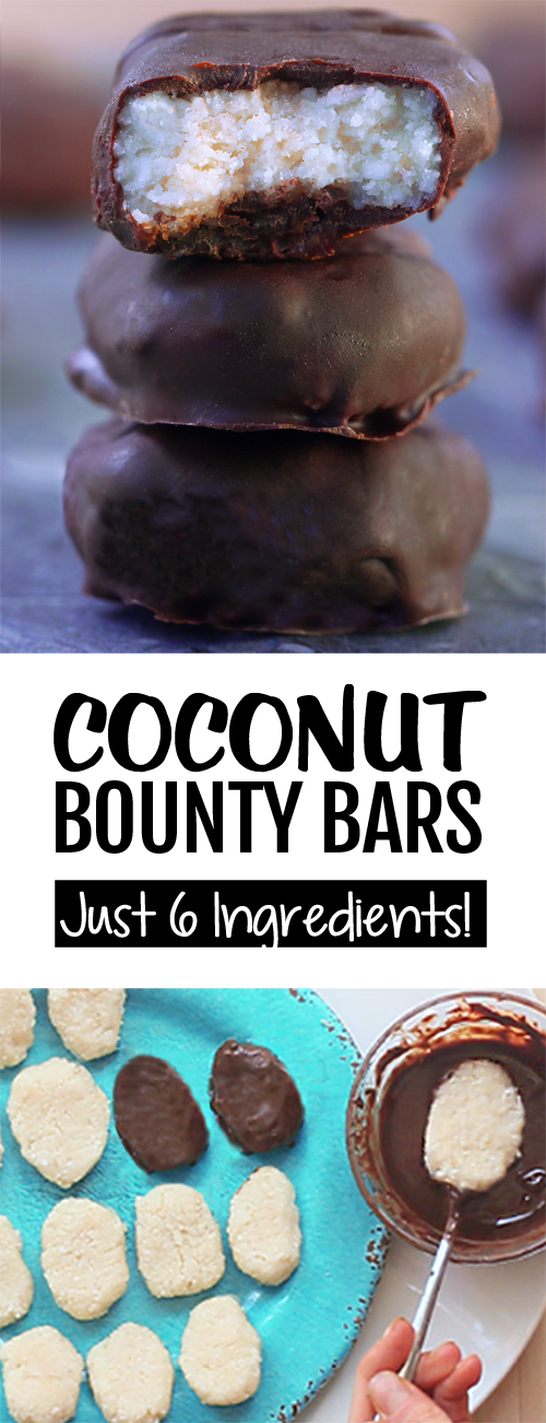 6 Ingredient Secretly Healthy Coconut Bounty Bars