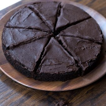 Dark Chocolate Eclipse Cake