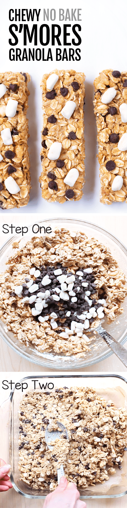 Homemade CHEWY S'mores Granola Bars