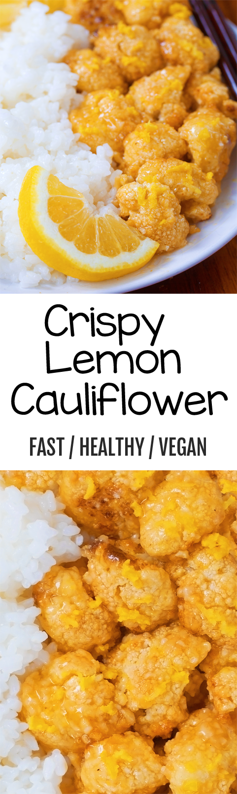 CRISPY Lemon Cauliflower, this was SO good!