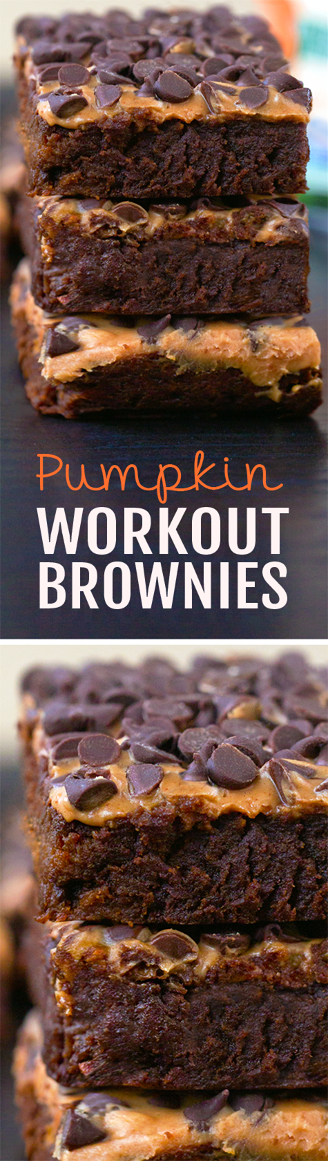 Ultra fudgy pumpkin brownies, without all the extra fat and calories, these healthy pumpkin brownies are amazing!