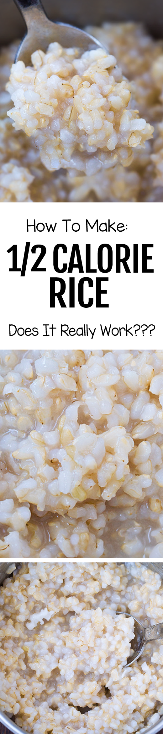 The trick how to make rice with 1/2 the calories (real rice, NOT cauliflower rice)