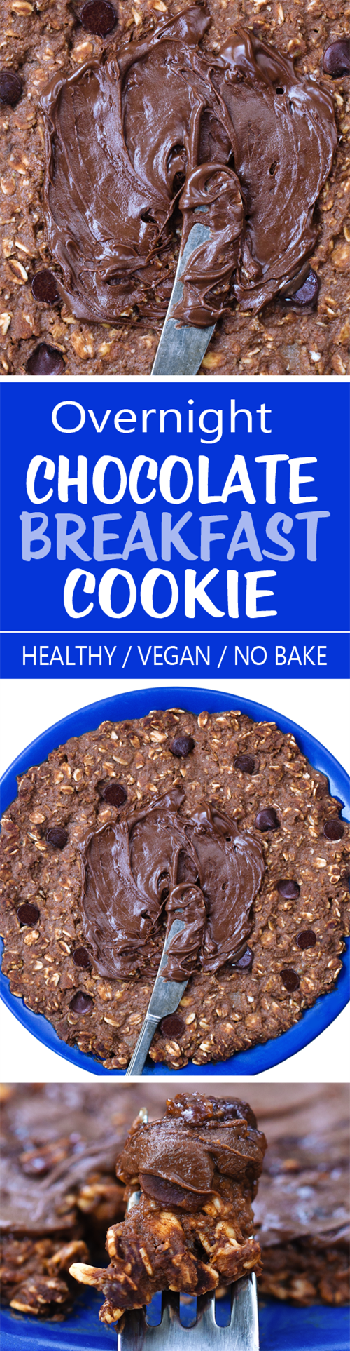 "A chocolate ""no bake"" overnight breakfast cookie that is ready whenever you want it!"