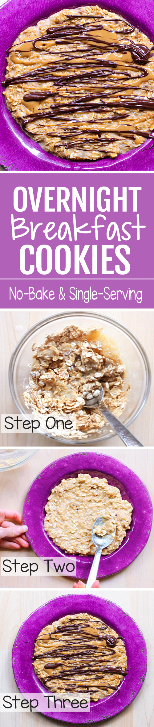 "This ""no-bake"" healthy oatmeal breakfast cookie can be customized, for different flavors!"