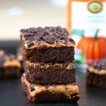 Pumpkin Workout Brownies