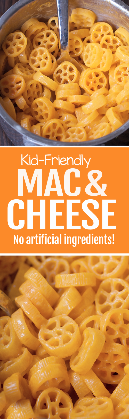 This much healthier alternative to boxed mac and cheese has none of the artificial colors and harmful food dyes in the Kraft version