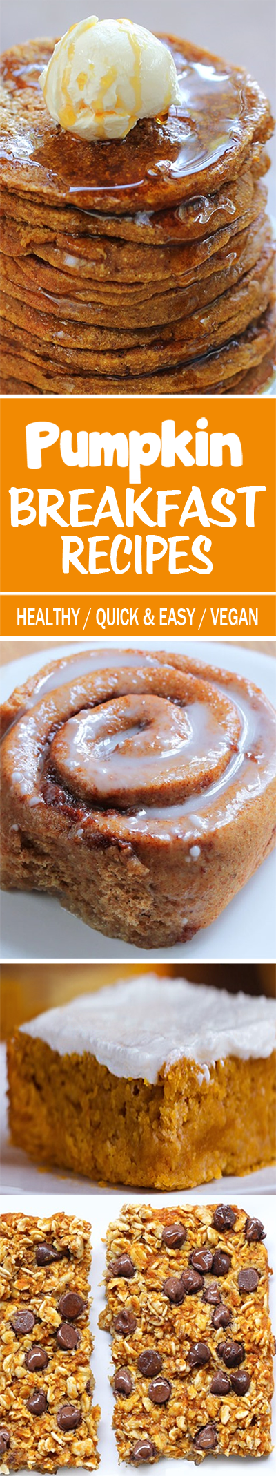 So many healthy pumpkin breakfast recipes, and all of them are vegan!