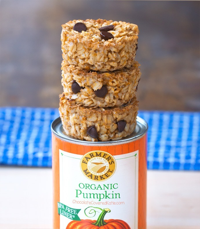Pumpkin Oatmeal Breakfast Cups!