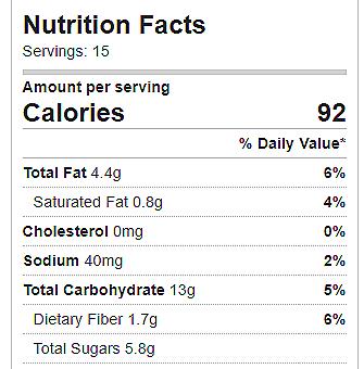 Pixie Cookies Nutrition