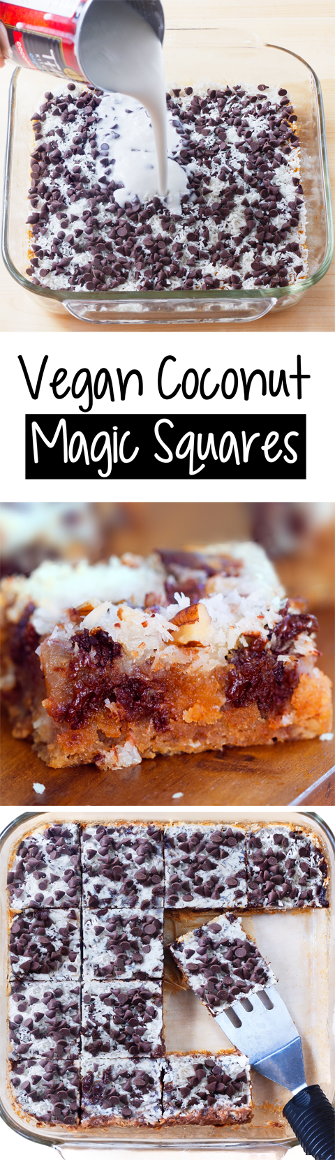 Vegan Coconut Magic Squares (7 Layer Bars) Recipe