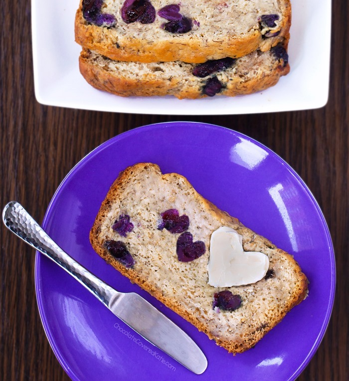 blueberry banana bread breakfast