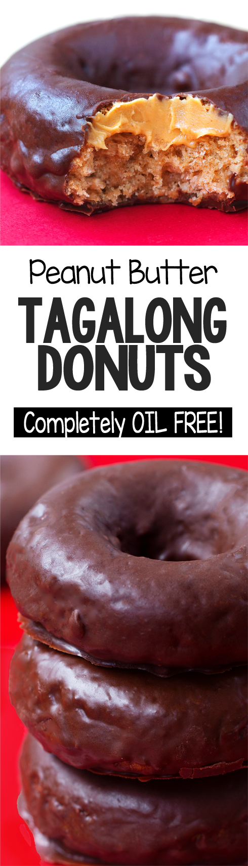 Super Healthy Peanut Butter Tagalong Girl Scout Cookie Donuts