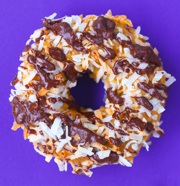 Samoas Girl Scout Cookie Donuts