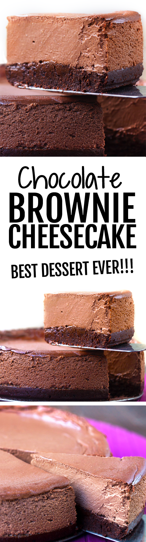 The Ultimate Chocolate Cheesecake, with a brownie crust, easy to make keto