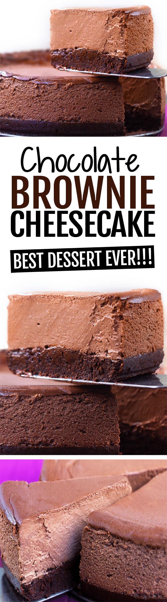 The Ultimate Creamy Chocolate Brownie Cheesecake Recipe