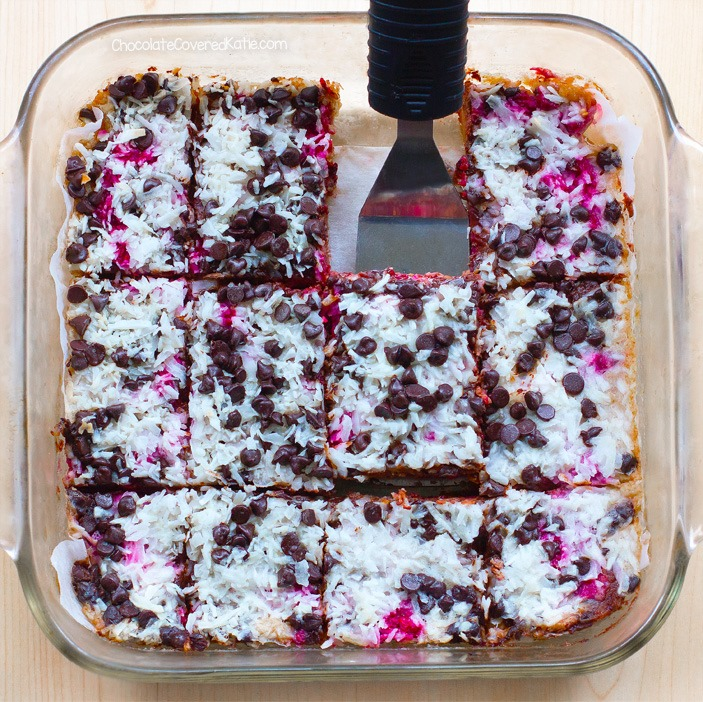 Raspberry Chocolate Chip Magic Squares