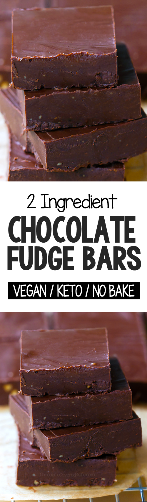 2 Ingredient Keto Chocolate Fudge Bars