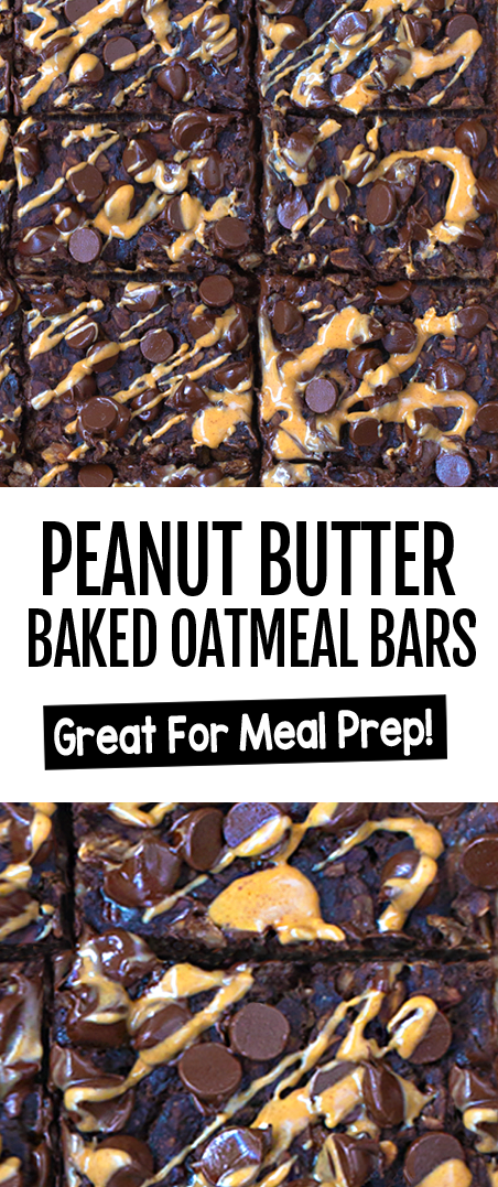 Chocolate Peanut Butter Cup Baked Oatmeal