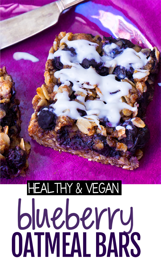 Healthy Blueberry Oatmeal Bars (Vegan, Low Fat, Whole Grain)