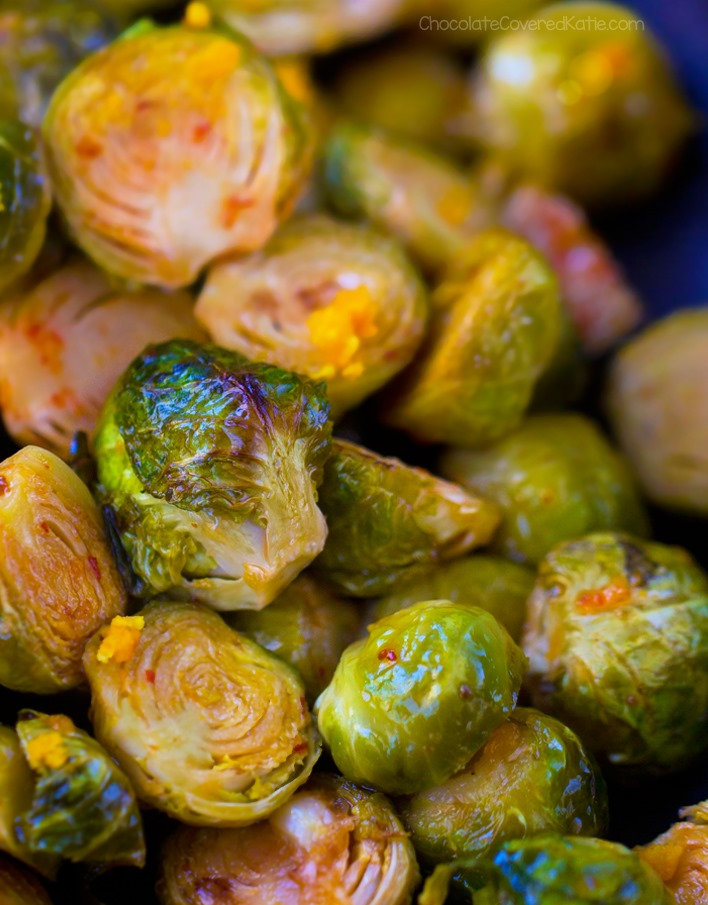 Orange Brussels Sprouts