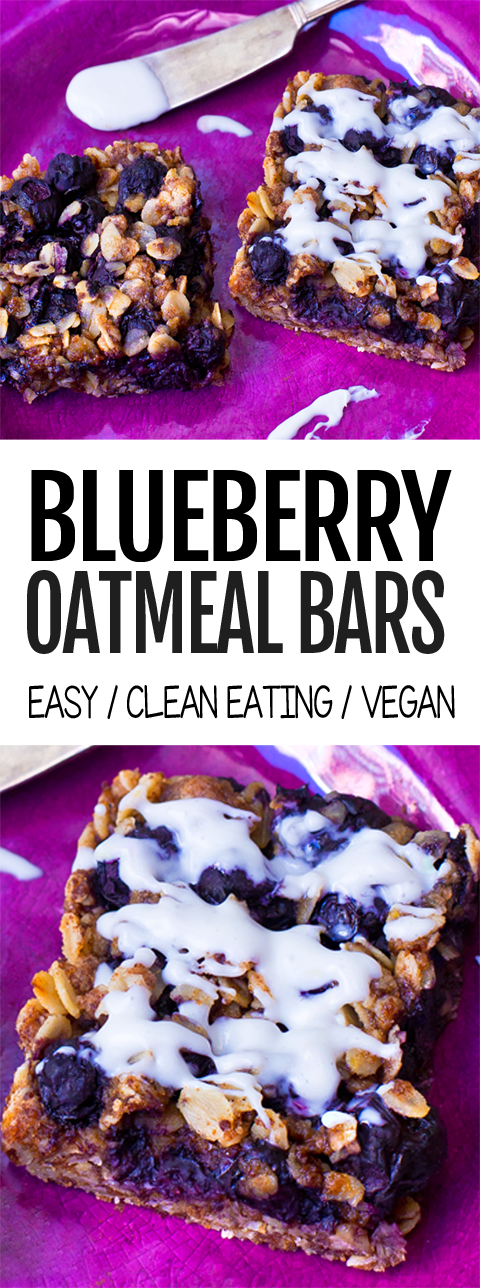 Clean Eating Blueberry Oatmeal Bars - Healthy Breakfast Recipe
