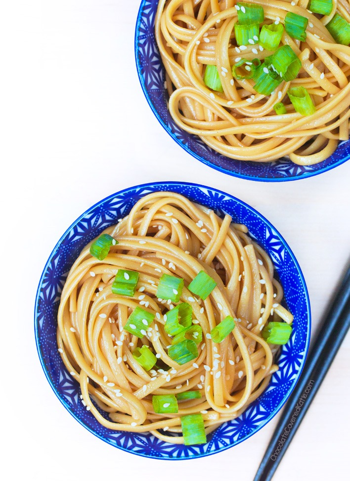 Healthy Vegan Sesame Noodles