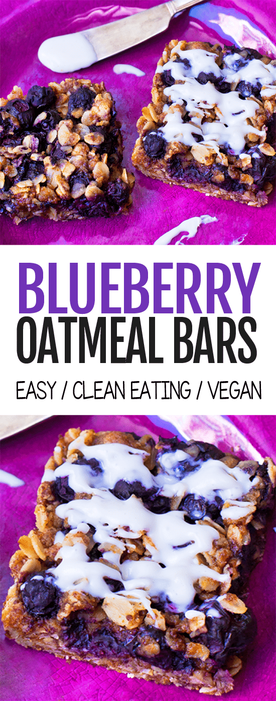 Super Healthy Blueberry Oatmeal Snack Bars