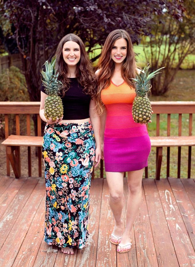 Vegan Girls Eating Fruit