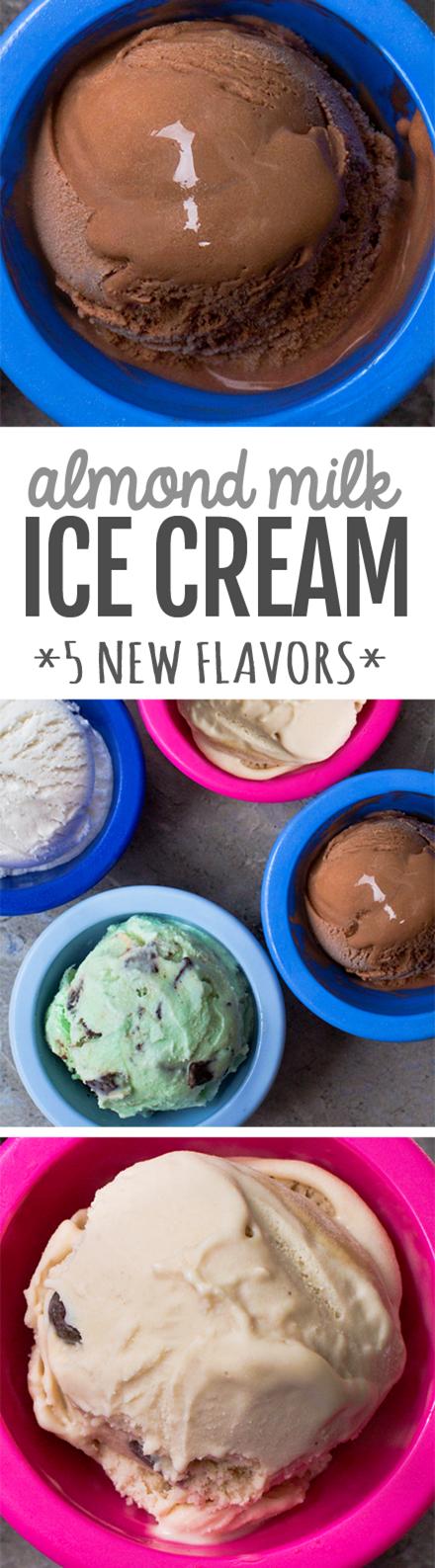 Almond Milk Ice Cream - 5 flavors, vegan, keto option