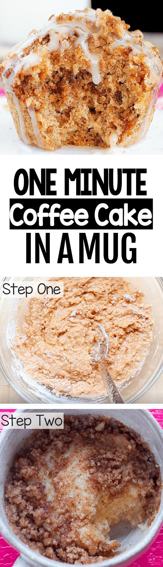 Easy One Minute Coffee Mug Cake (Vegan, Keto Option)
