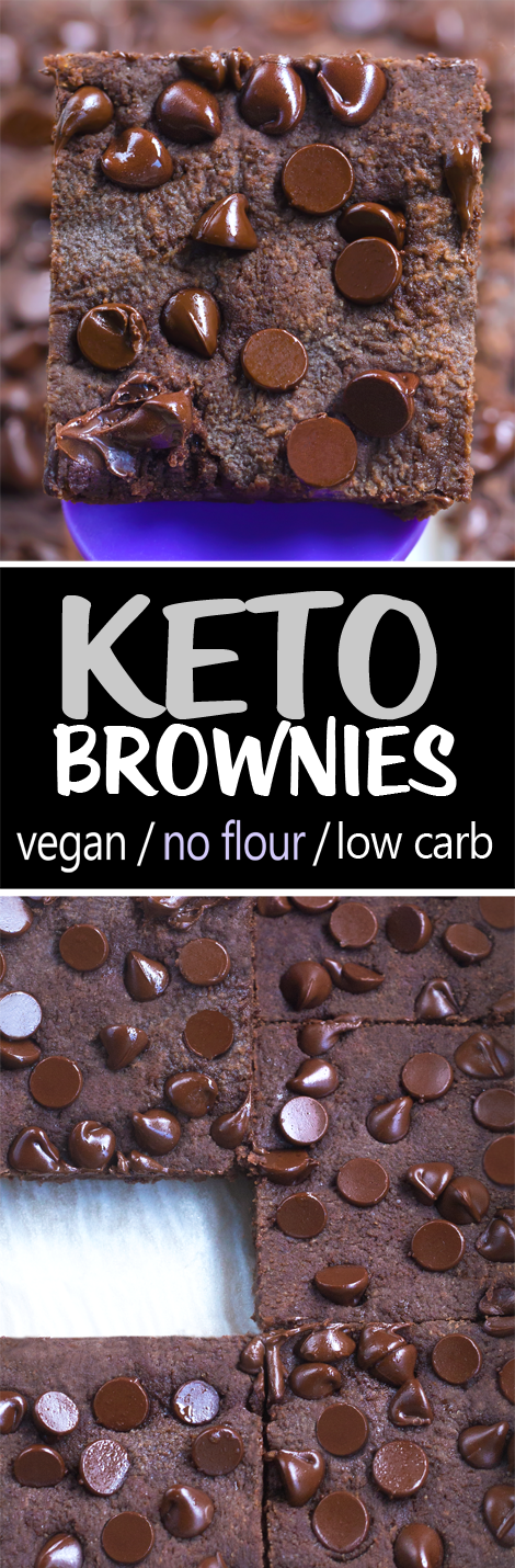 Keto Brownies - low carb, flourless, vegan, sugar free, gluten free