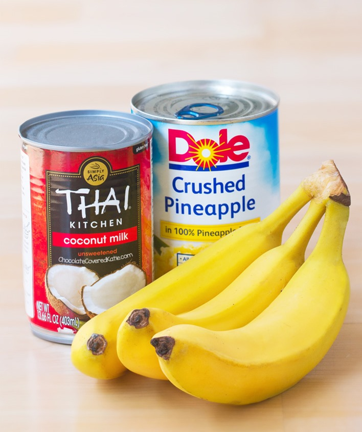 Pineapple Banana Bread Ingredients